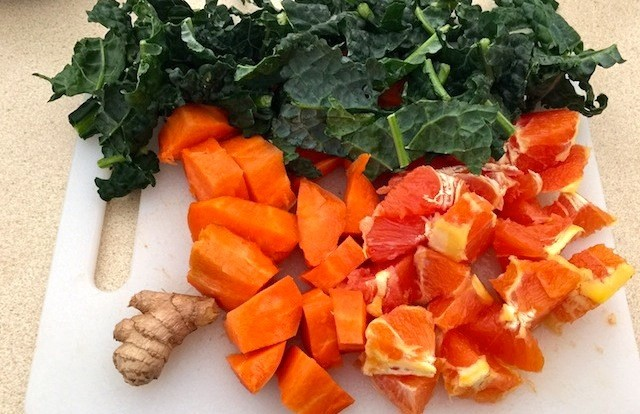 Ginger-Carrot Smoothie to start the week